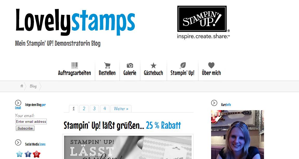 Screenshot meiner Webseite
