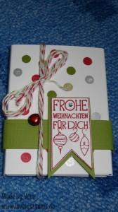 Kartenhülle Weihnachten