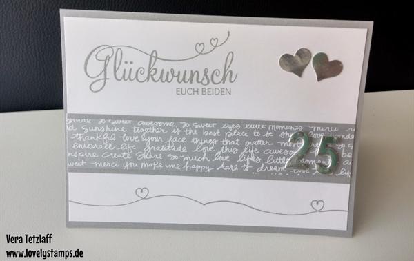 Karten Zur Silberhochzeit Lovelystamps Vera Tetzlaff