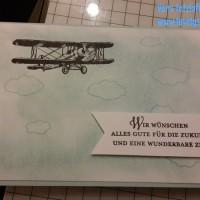 Vorruhestand, Karte zur Rente, Flieger, Wolken, Zukunft