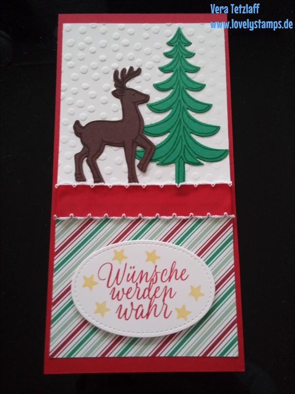 Weihanchtsschlitten, Weihnachtskarte,