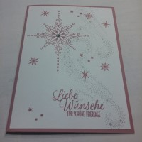 Weihnachtskarte, Zartepflaumen, Sterne, Sternenstaub