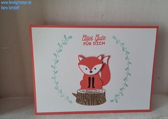 Foxy Friends, Karte, Geburtstag