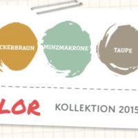In Color 2015-2017 Grasgrün Ockerbraun Minzmakrone, Taupe, Melonensorbet