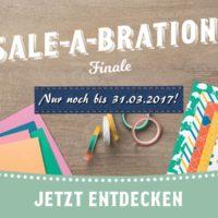 Sale-a-bration endet bald - Bild mit Designerpapieren und Washitape