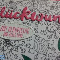 Geburtstagskarte mit Sale-a-bration Designerpapier in Wassermelone