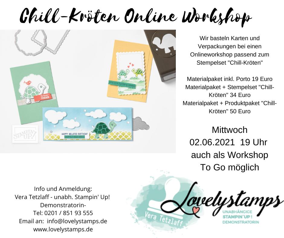Chill-Kröten Workshop Flyer