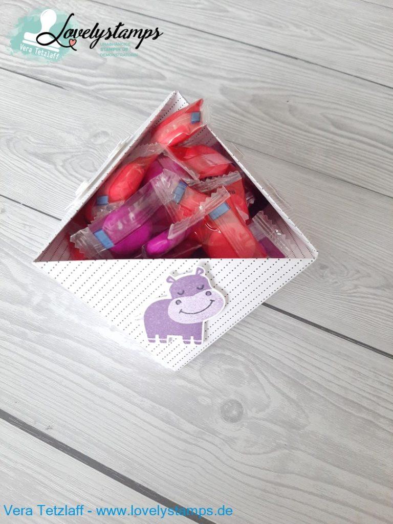 Bonbon Schale Origami Hippo