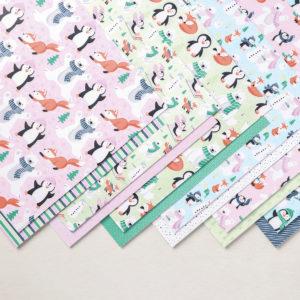 Designerpapier Pinguin & Co